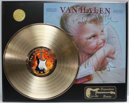 VAN-HALEN-3-GOLD-LP-LTD-EDITION-REPRODUCTION-SIGNATURE-RECORD-DISPLAY-181978765532
