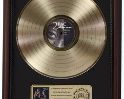 2-PAC-ALL-EYES-ON-ME-GOLD-LP-RECORD-FRAMED-CHERRYWOOD-DISPLAY-K1-182129060343