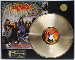 ANTHRAX-GOLD-LP-LTD-EDITION-REPRODUCTION-SIGNATURE-RECORD-DISPLAY-181978326313