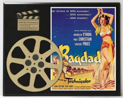 BAGDAD-VINCENT-PRICE-MAUREEN-OHARA-LIMITED-EDITION-MOVIE-REEL-DISPLAY-172235565773