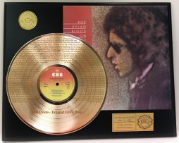 BOB-DYLAN-GOLD-LP-RECORD-LASER-ETCHED-W-LYRICS-TO-TANGLED-UP-IN-BLUE-181304390193