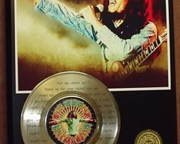BOB-MARLEY-GOLD-45-RECORD-LIMITED-EDITION-LASER-ETCHED-WSONGS-LYRICS-STAND-UP-170704297593