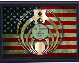 Bassnectar-Bass-Head-Cherry-Framed-Laser-Cut-Gold-Record-Flag-K1-172344590703
