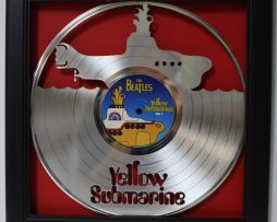 Beatles-Yellow-Sub-Framed-Laser-Cut-Platinum-Vinyl-Record-in-Shadowbox-Wallart-172386228763