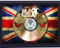 Black-Sabbath-Paranoid-Cherry-Framed-Laser-Cut-Gold-Record-Flag-K1-172344593923