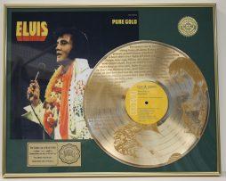 ELVIS-PRESLEY-CUSTOM-FRAMED-GOLD-CLAD-RECORD-DISPLAY-LTD-EDITION-SHIPS-US-FREE-7-181163938133
