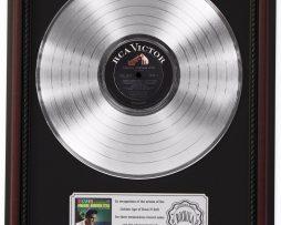 ELVIS-PRESLEY-PARADISE-PLATINUM-LP-RECORD-FRAMED-CHERRYWOOD-DISPLAY-K1-172211701303