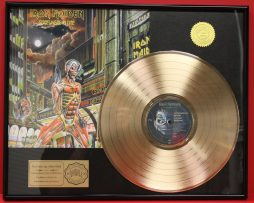 IRON-MAIDEN-CUSTOM-FRAMED-PREMIUM-GOLD-AWARD-QUALITY-RECORD-DISPLAY-170923557783