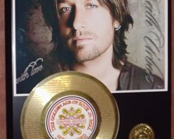 KEITH-URBAN-ETCHED-W-LYRICS-YOULL-THINK-OF-ME-45kt-GOLD-RECORD-LTD-EDITION-180788795583