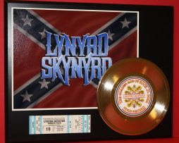 LYNYRD-SKYNYRD-CONCERT-TICKET-SERIES-GOLD-RECORD-LIMITED-EDITION-DISPLAY-171348049013