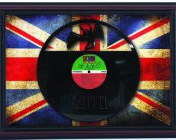 Led-Zeppelin-ZoSo-Cherry-Framed-Laser-Cut-Black-Vinyl-Record-Flag-K1-172344653223