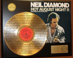 NEIL-DIAMOND-GOLD-LP-RECORD-LASER-ETCHED-W-LYRICS-PLAYS-SONG-SEPTEMBER-MORN-181108540633