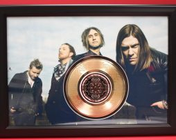 SHINEDOWN-LARGE-CUSTOM-FRAMED-GOLD-45-RECORD-DISPLAY-FREE-US-SHIPPING-181058450773
