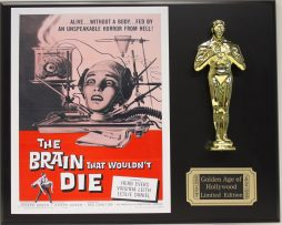 THE-BRAIN-THAT-WOULDNT-DIE-LTD-EDITION-OSCAR-MOVIE-DISPLAY-FREE-SHIPPING-171388349243