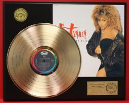 TINA-TURNER-GOLD-LP-RECORD-DISPLAY-ACTUALLY-PLAYS-THE-SONG-TYPICAL-MALE-181112641343