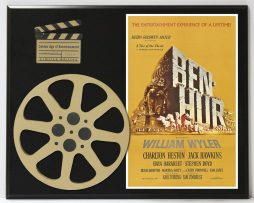 BEN-HUR-MOVIE-POSTER-WITH-CHARLTON-HESTON-LIMITED-EDITION-MOVIE-REEL-DISPLAY-182165791774