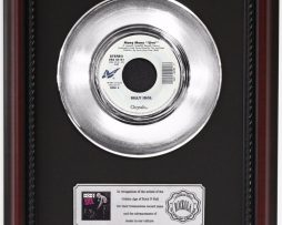 BILLY-IDOL-MONY-MONY-PLATINUM-RECORD-FRAMED-CHERRYWOOD-DISPLAY-K1-182128886264