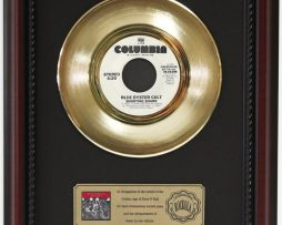 BLUE-OYSTER-CULT-SHOOTING-SHARK-GOLD-RECORD-CUSTOM-FRAME-CHERRYWOOD-DISPLAY-K1-172164183824