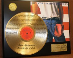 BRUCE-SPRINGSTEEN-LTD-EDITION-GOLD-LP-RECORD-LASER-ETCHED-W-LYRICS-TO-THE-SONG-170926715644
