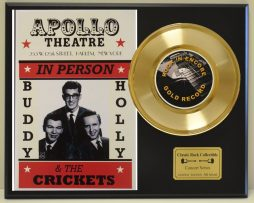 BUDDY-HOLLY-LTD-EDITION-CONCERT-POSTER-SERIES-GOLD-45-DISPLAY-FREE-US-SHIPPING-181234534134