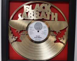 Black-Sabbath-Ozzy-Osbourne-Framed-Laser-Cut-Gold-Vinyl-Record-Shadowbox-Wallart-172387401834