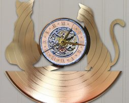 CATS-CUSTOM-LASER-CUT-GOLD-PLATED-VINYL-LP-RECORD-WALL-CLOCK-FREE-SHIPPING-171958014334