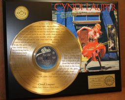 CYNDI-LAUPER-LTD-EDITION-GOLD-LP-RECORD-LASER-ETCHED-W-LYRICS-TO-THE-SONG-170927040234