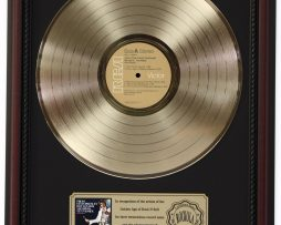 ELVIS-PRESLEY-BOULEVARD-GOLD-LP-RECORD-FRAMED-CHERRYWOOD-DISPLAY-K1-172205709234