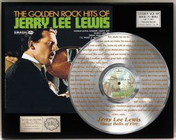 JERRY-LEE-LEWIS-PLATINUM-LP-RECORD-DISPLAY-ETCHED-W-LYRICS-TO-GREAT-BALLS-OF-FIR-181465555914