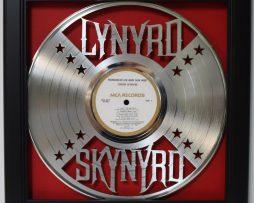 Lynardyd-Skynaryd-Framed-Laser-Cut-Platinum-Vinyl-Record-in-Shadowbox-Wallart-182328512674