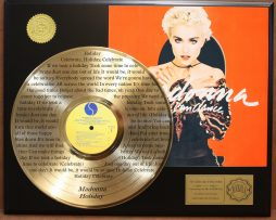 MADONNA-LTD-EDITION-GOLD-LP-RECORD-LASER-ETCHED-W-LYRICS-TO-HOLIDAY-181003549674