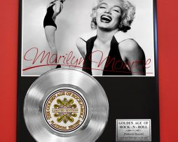 MARILYN-MONROE-PLATINUM-RECORD-LIMITED-EDITION-COLLECTIBLE-MUSIC-GIFT-FREE-SHIP-181231324564