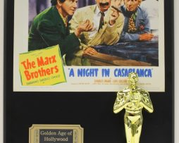 MARX-BROTHERS-A-NIGHT-IN-CASABLANCA-OSCAR-MOVIE-DISPLAY-FREE-US-SHIPPING-181200754394