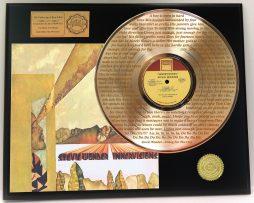 STEVIE-WONDER-GOLD-LP-RECORD-DISPLAY-LASER-ETCHED-W-LYRICS-OF-HIT-SONG-171221196064