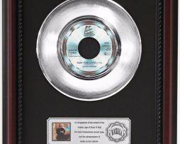 STEVIE-WONDER-PART-TIME-LOVER-PLATINUM-FRAMED-RECORD-CHERRYWOOD-DISPLAY-K1-172205646394
