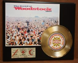 WOODSTOCK-CROWD-AWARD-QUALITY-GOLD-45-RECORD-LTD-EDITION-DISPLAY-FREE-SHIP-170790920484