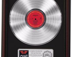 AEROSMITH-GEMS-PLATINUM-LP-RECORD-FRAMED-CHERRYWOOD-DISPLAY-K1-182137105665