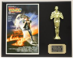 BACK-TO-THE-FUTURE-MICHAEL-J-FOX-OSCAR-MOVIE-DISPLAY-FREE-US-SHIPPING-181200763925