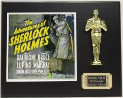 BASIL-RATHBONE-SHERLOCK-HOLMES-LTD-EDITION-OSCAR-MOVIE-DISPLAY-FREE-SHIPPING-181469640825