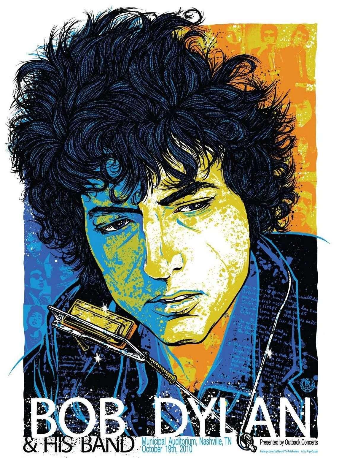Bob Dylan Ltd Edition Concert Poster Series Gold 45