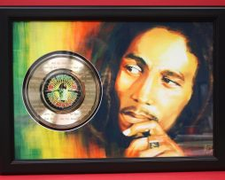 BOB-MARLEY-LARGE-FRAMED-GOLD-CLAD-45-RECORD-DISPLAY-FREE-SHIPPING-181033341225