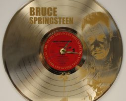 BRUCE-SPRINGSTEEN-2-LASER-ETCHED-GOLD-PLATED-LP-RECORD-WALL-CLOCK-FREE-SHIPPING-171958009485