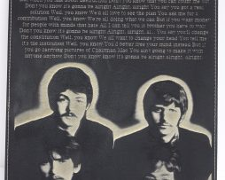 Beatles-Laser-Etched-Lyric-Band-Art-Black-Leatherette-Plaque-Lennon-C-3-172323390645