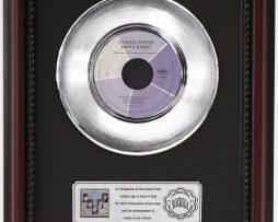 DURAN-DURAN-SAVE-A-PRAYER-PLATINUM-RECORD-FRAMED-CHERRYWOOD-DISPLAY-K1-182128913345