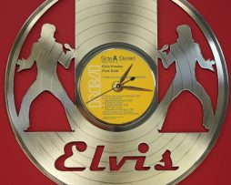 ELVIS-PRESLEY-2-LASER-CUT-GOLD-PLATED-LP-RECORD-WALL-CLOCK-FREE-SHIPPING-171958042425