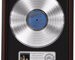 ELVIS-PRESLEY-IN-CONCERT-PLATINUM-LP-RECORD-FRAMED-CHERRYWOOD-DISPLAY-K1-182137177865