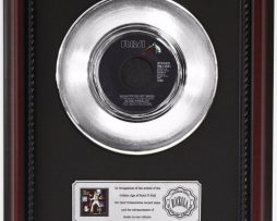 ELVIS-PRESLEY-THE-ELVIS-MEDLEY-PLATINUM-RECORD-FRAMED-CHERRYWOOD-DISPLAY-K1-172204298185