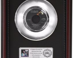 ELVIS-PRESLEY-UNCHAINED-MELODY-PLATINUM-RECORD-FRAMED-CHERRYWOOD-DISPLAY-K1-172204299625