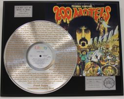 FRANK-ZAPPA-PLATINUM-LP-RECORD-DISPLAY-ETCHED-W-LYRICS-TO-LONESOME-COWBOY-BURT-181465602015