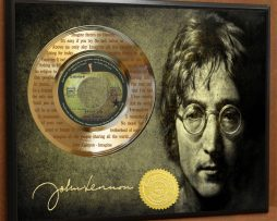 IMAGINE-LTD-EDITION-POSTER-ART-GOLD-RECORD-DISPLAY-LASER-ETCHED-W-LYRICS-172002056475